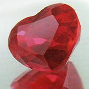 rubino birmano taglio cuore